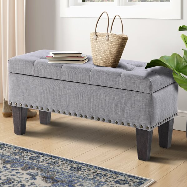 Miamitown Upholstered Flip Top Storage Bench