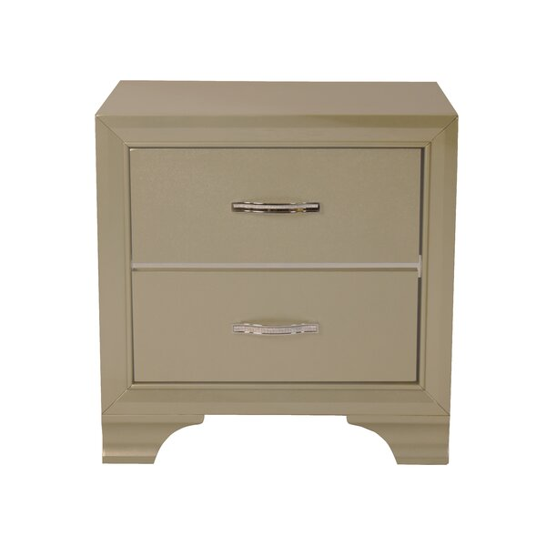 Pfaff 2 Drawer Nightstand by Everly Quinn