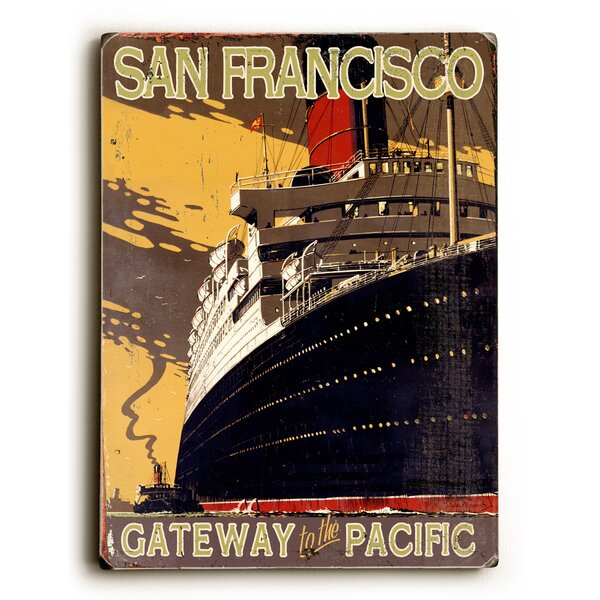 San Francisco Gateway to the Pacific Vintage Advertisement by Artehouse LLC