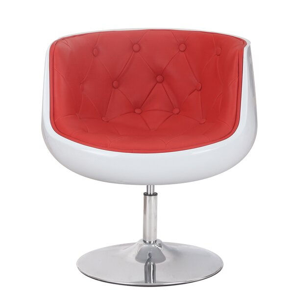 Glass Swivel Barrel Chair by Adeco Trading