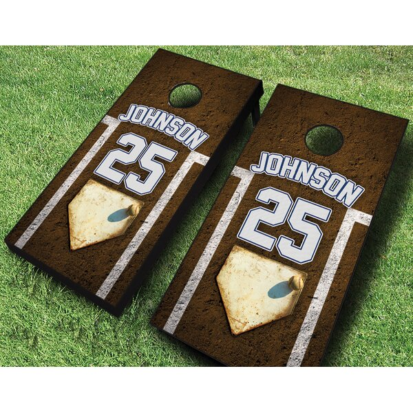 Personalized Baseball Cornhole Set by AJJ Cornhole