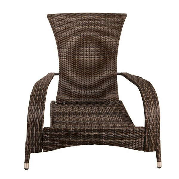 Crosstown Extra-Comfortable Wicker Patio Chair with Cushions by Ebern Designs