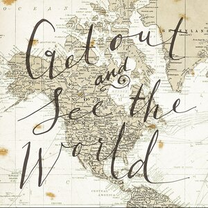 Get out and See the World' Graphic Art Print by Star Creations