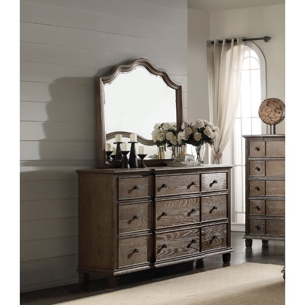 Putney 9 Drawer Dresser with Mirror by One Allium Way