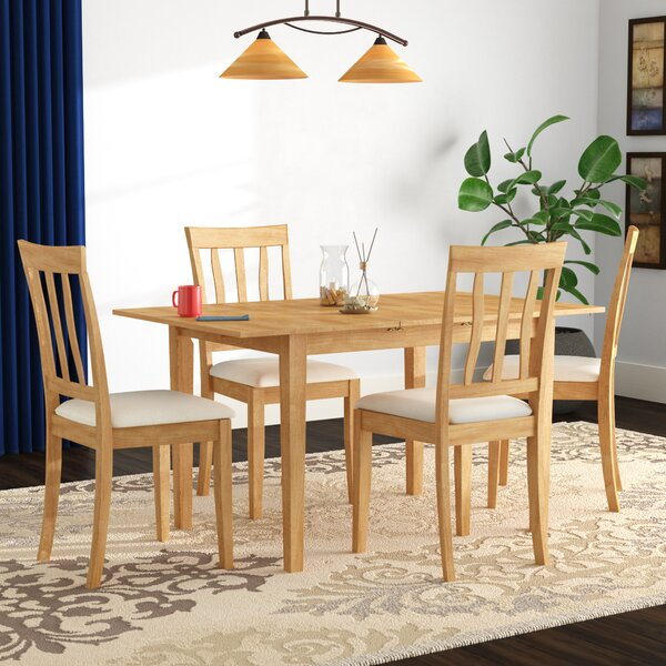 Balfor 5 Piece Extendable Solid Wood Dining Set by Andover Mills Andover Mills