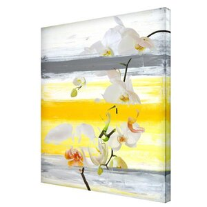 'Painted Petals XXVI' Painting Print on Wrapped Canvas by Ready2hangart