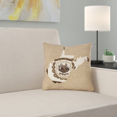 ArtVerse Katelyn Smith 26 x 26 Poly Twill Double Sided Print with Concealed Zipper /& Insert West Virginia Canvas Pillow