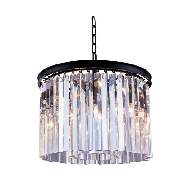 Lavinia 6-Light Crystal Chandelier by Everly Quinn