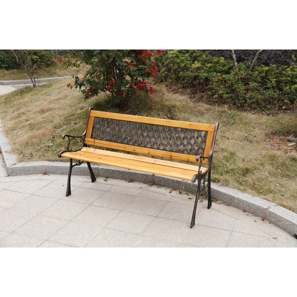 Sundberg Wooden Park Bench by Millwood Pines