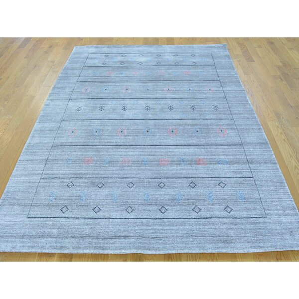 One-of-a-Kind Becker Art Handwoven Grey Wool Area Rug by Isabelline