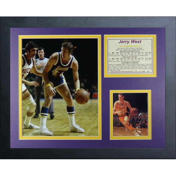Jerry West Framed Memorabilia by Legends Never Die