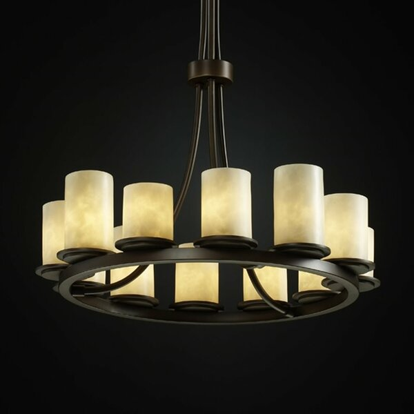Woolwich 12 - Light Candle Style Wagon Wheel Chandelier By Loon Peak
