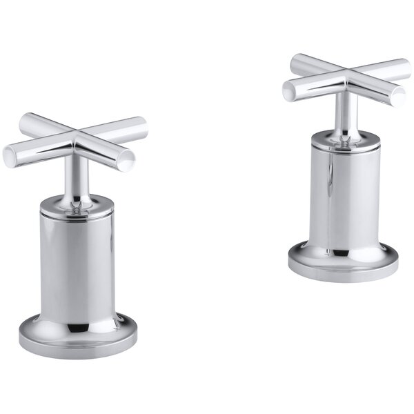 Purist Deck- or Wall-Mount High-Flow Bath Valve Trim with Cross Handle by Kohler
