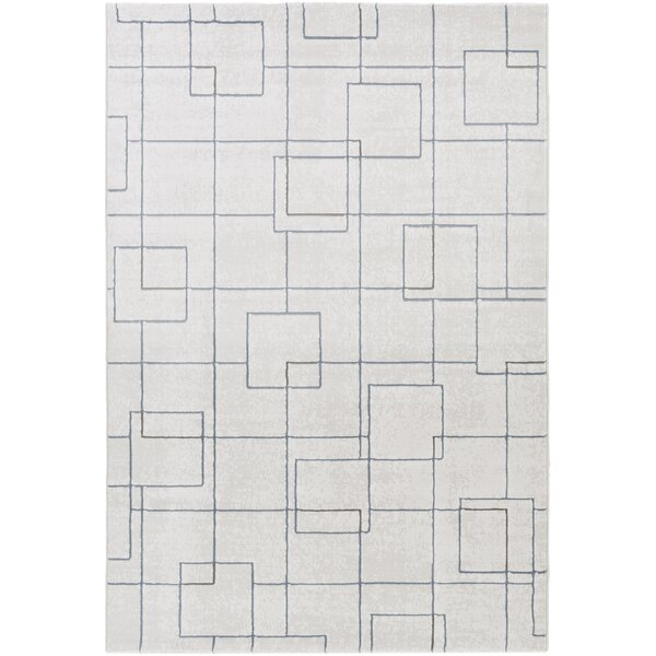 Chacon Modern White/Light Gray Area Rug by Corrigan Studio