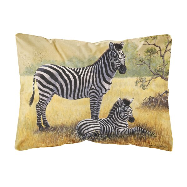 Rymer Zebras by Daphne Baxter Fabric Indoor/Outdoor Throw Pillow by Winston Porter