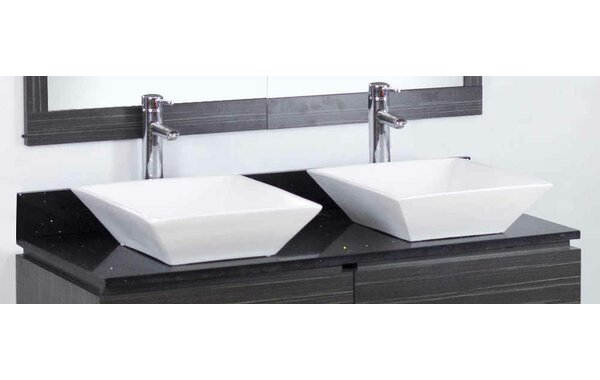 Dunamuggy 48 Wall-Mounted Double Bathroom Vanity Set by Royal Purple Bath Kitchen