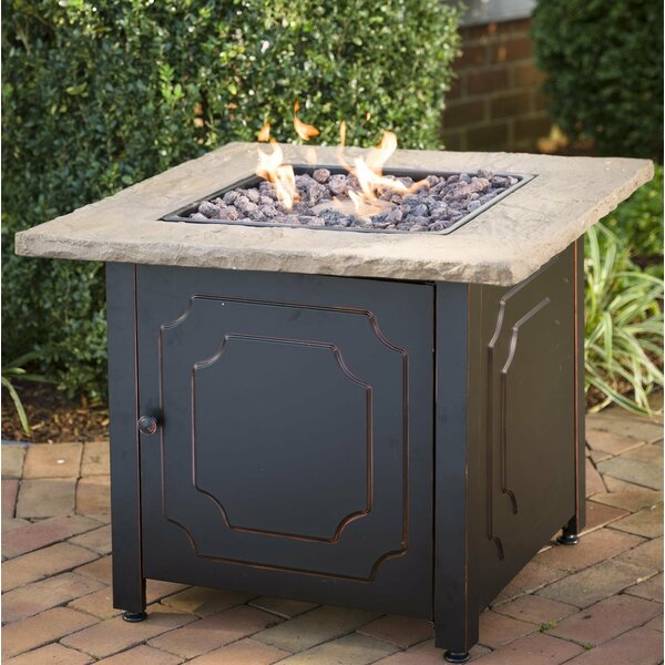 Chiseled Stone Propane Fire Pit Table by Plow & Hearth
