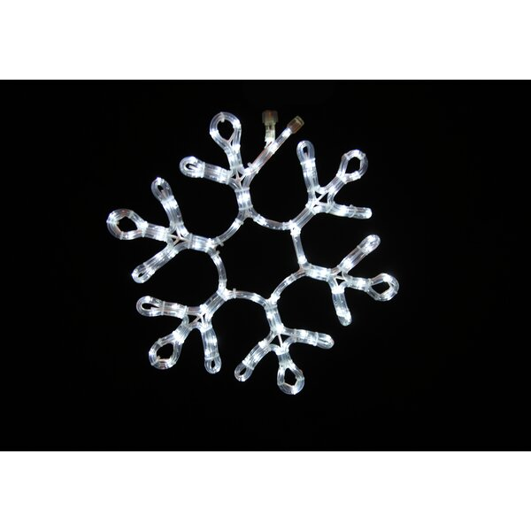 19 Rope Light Snowflake by Queens of Christmas