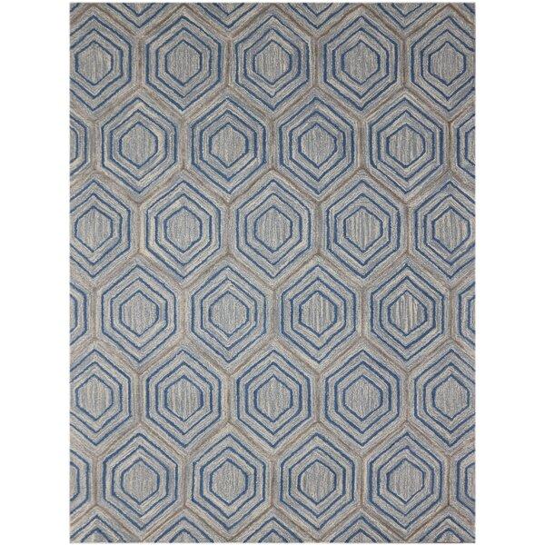 Weesner Hand-Tufted Blue Area Rug by George Oliver