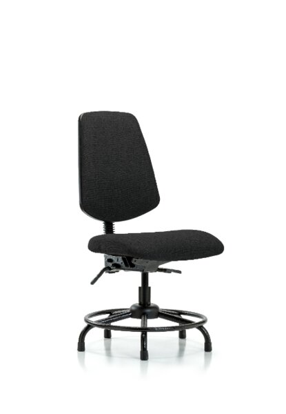 Caius Round Tube Base Desk Height Ergonomic Office Chair by Symple Stuff