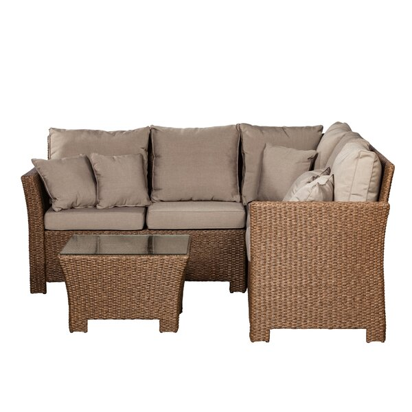 Jarrett 2 Piece Sectional Seating Group with Cushions by PatioSense