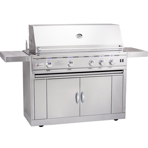 TRLD Propane Gas Grill with Side Shelves by Summerset Professional Grills