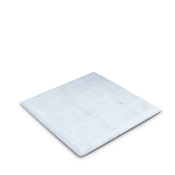 Hamler Square Marble Trivet by Wrought Studio