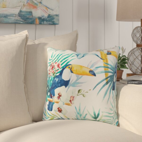 Sherwick Toucan Throw Pillow by Bay Isle Home