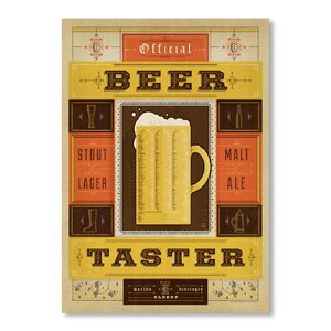 'Beer Taster' Vintage Advertisement by East Urban Home