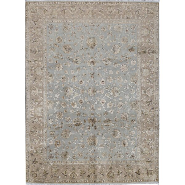 One-of-a-Kind Hand-Knotted Blue/Beige 8'11 x 12' Area Rug