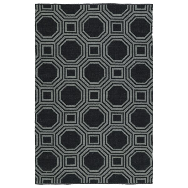 Littleton Black/Gray Indoor/Outdoor Area Rug by Wrought Studio