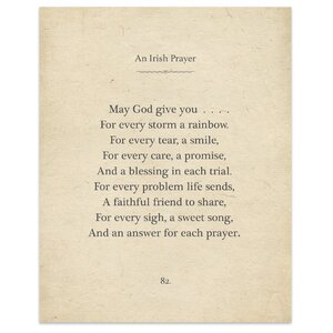 'Irish Prayer' by Terri Ellis Textual Art in Tan by KAVKA DESIGNS