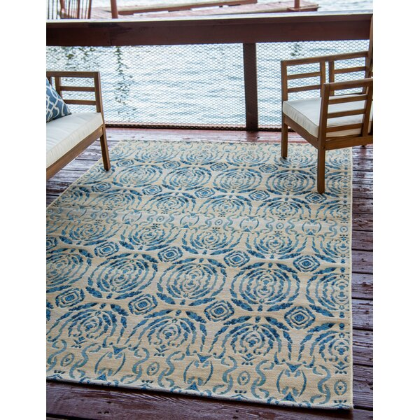 Jamie Beige Oriental Indoor/Outdoor Area Rug by Bloomsbury Market