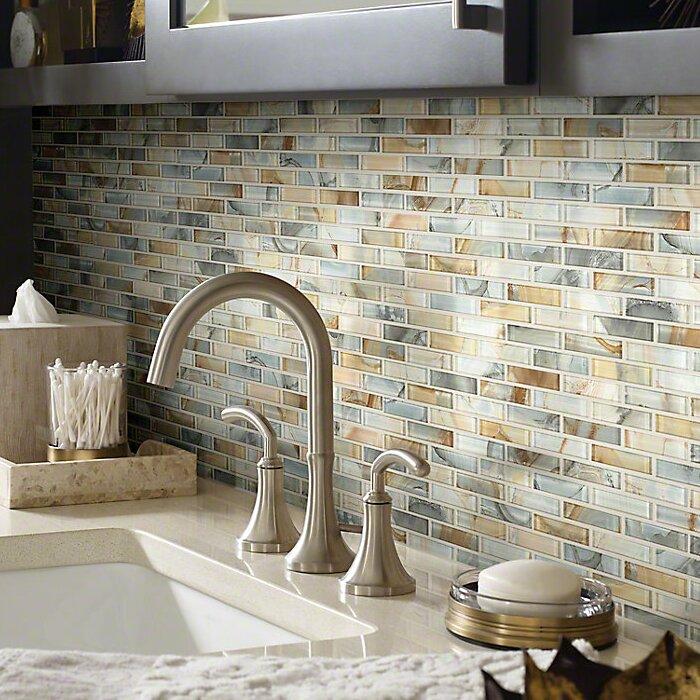 Shaw Floors Neptune 1 X 4 Glass Mosaic Tile In Gilt Reviews - Mosaic-tile-backsplash-model