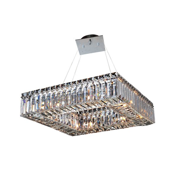 Riesel 8-Light Unique / Statement Square / Rectangle Chandelier By Everly Quinn