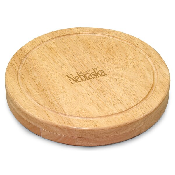 NCAA Circo Engraved Circulor Cutting Cheese Tray by TOSCANA™