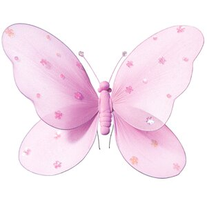 Katheryn Sequined Hanging Butterfly 3D Wall Décor by Zoomie Kids