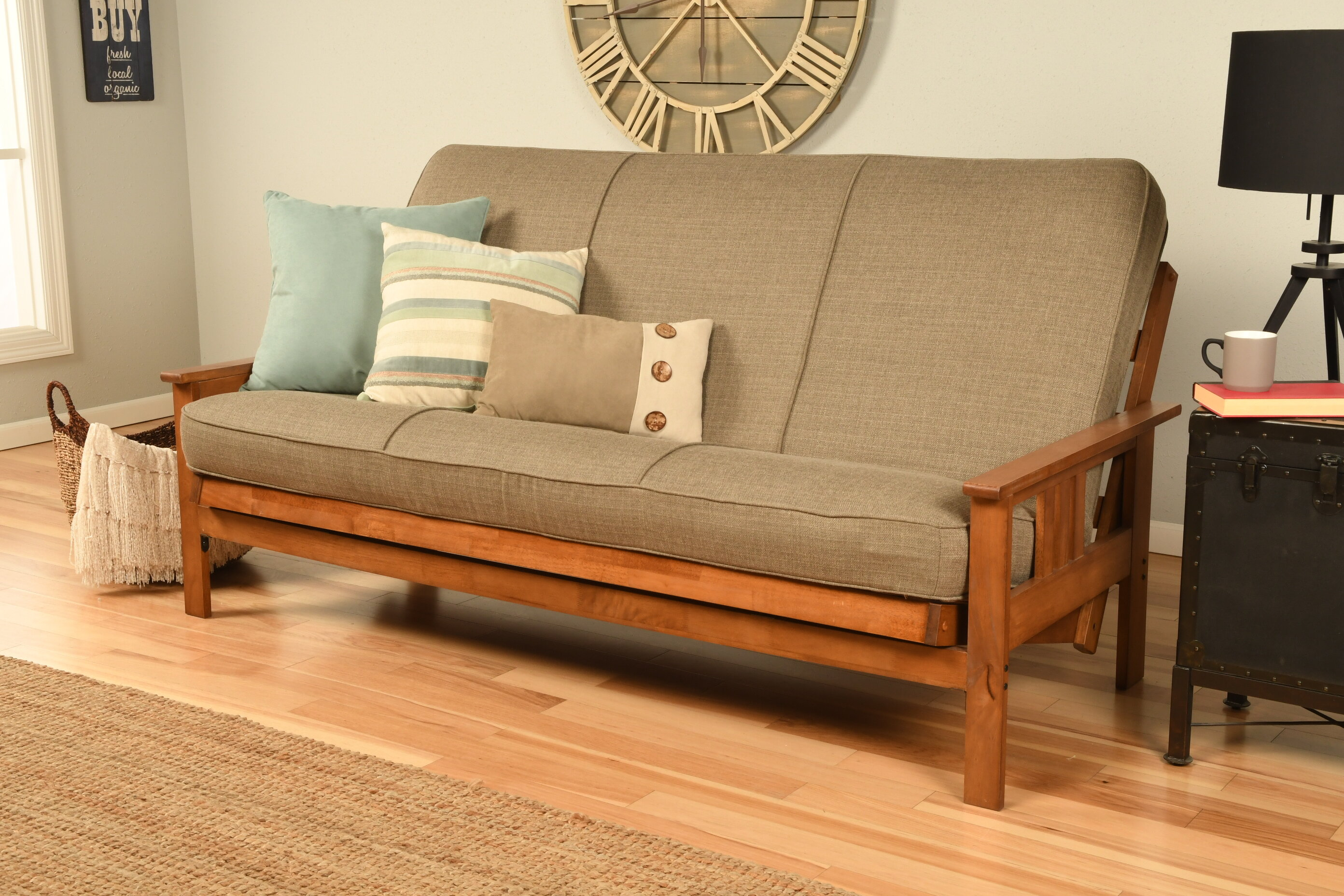 Skelly Cushion Back Futon And Mattress