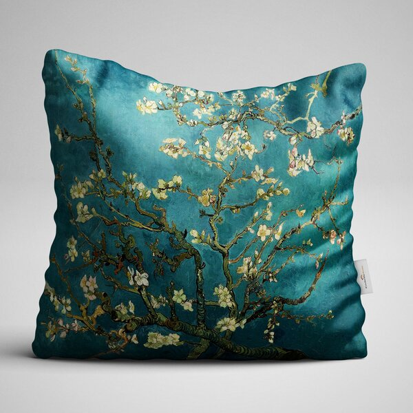 Avalon Bloomed Tree on the Oil Green Jungle Throw Pillow by Bloomsbury Market