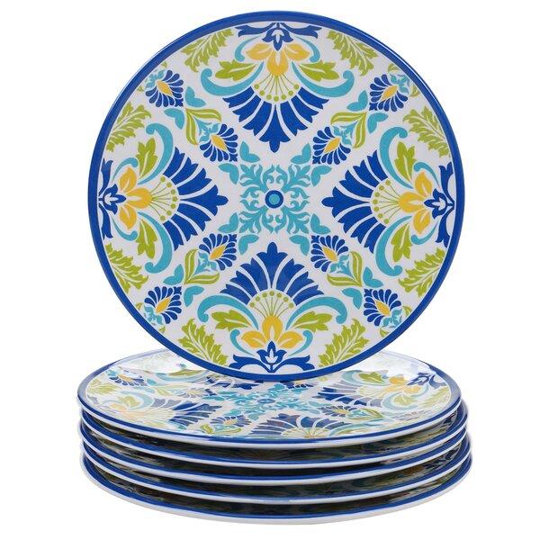 Hoehn Melamine Salad Plate (Set of 6) by Alcott Hill