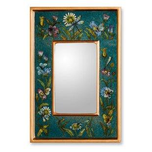 Novica Unique Peruvian Reverse Painted Glass Wall Mirror