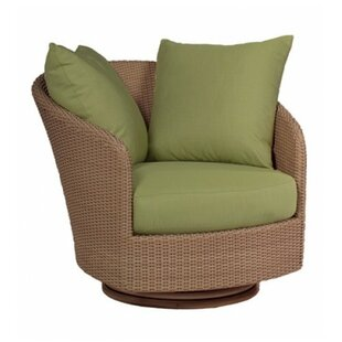 Oasis Swivel Patio Chair with Cushions By Woodard