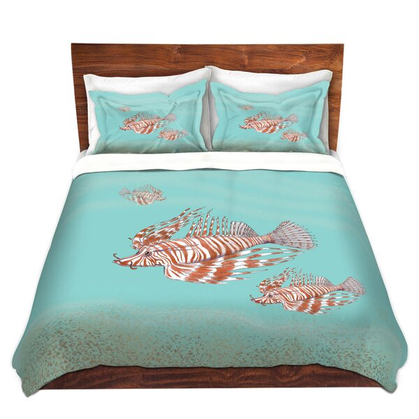 Lion Fish Family Duvet Cover Set