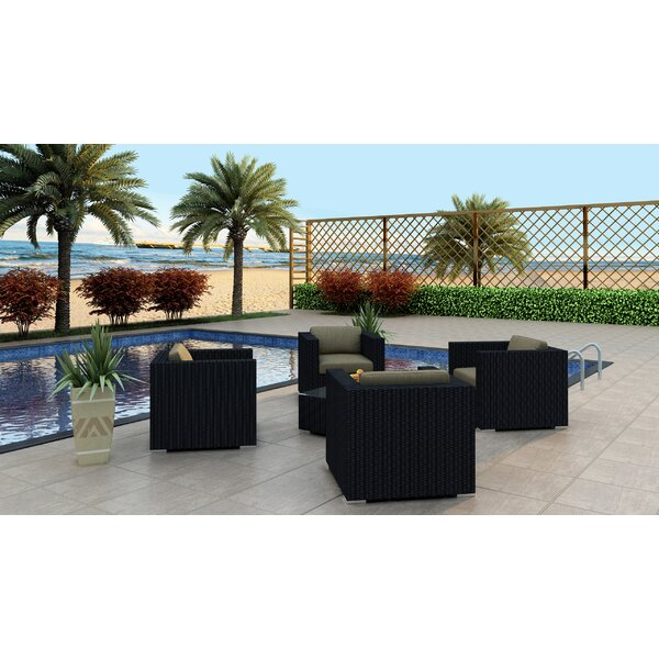 Azariah 5 Piece Conversation Set with Cushions by Orren Ellis