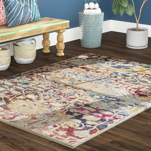 Manila Dark Blue/Khaki Area Rug by Bloomsbury Market