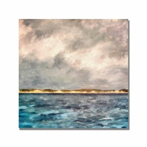 'Dunes of Lake Michigan' by Michelle Calkins Painting Print on Canvas by Trademark Fine Art