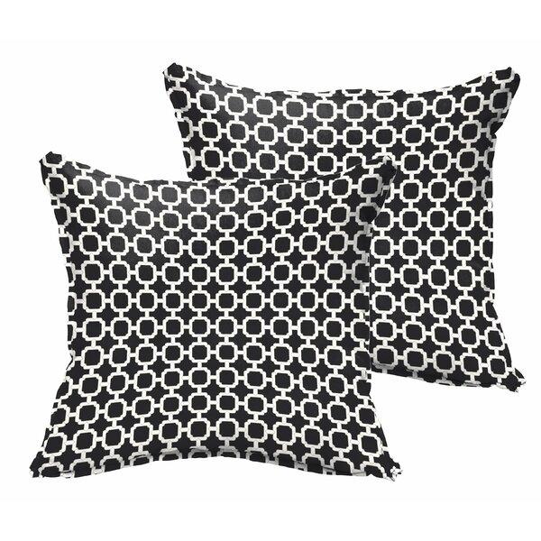 Samantha Geometric Indoor/ Outdoor Throw Pillows (Set of 2) by Latitude Run