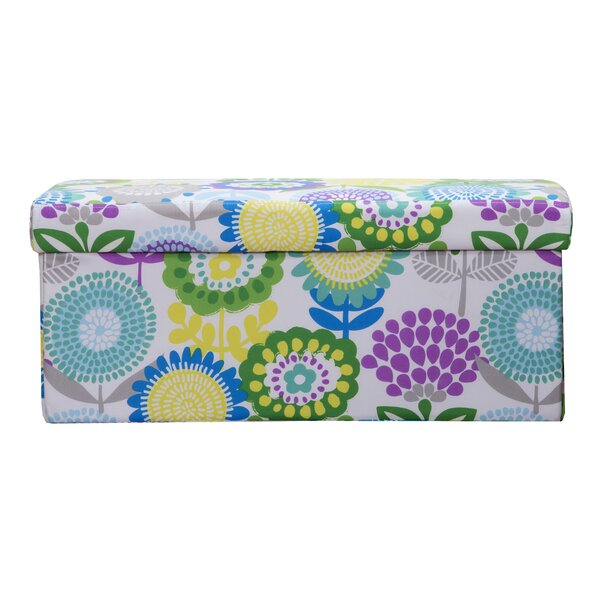 Pointillist Pansy Storage Ottoman by Crayola LLC