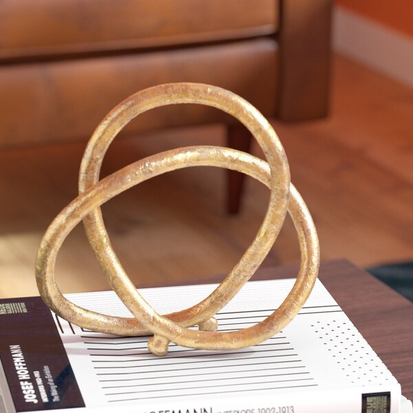 Christos Eternal Loop Metal Sculpture by Willa Arlo Interiors