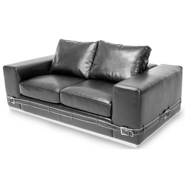 Review Mia Bella Leather Loveseat